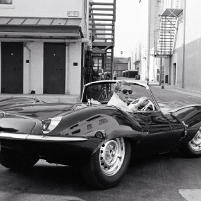 11-steve-mcqueen-in-black-jaguar-at-studio