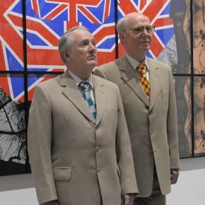 Gilbert & Georges à la galerie Ropac en 2010