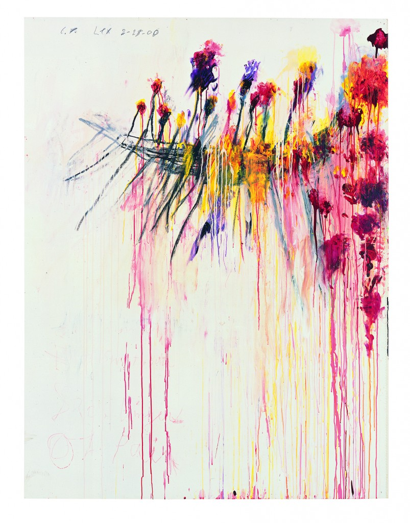 Coronation of Sesostris, 2000 Part V : Acrylique, crayon à la cire, mine de plomb sur toile 206,1 x 156,5 cm Pinault Collection © Cy Twombly Foundation, courtesy Pinault Collection