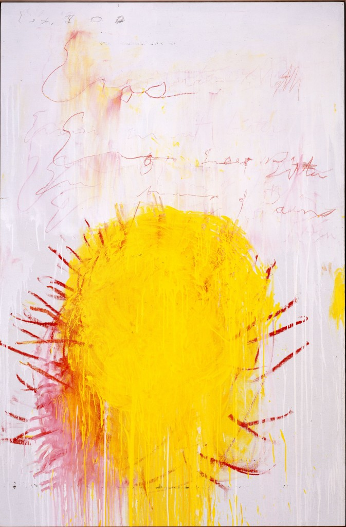 Coronation of Sesostris, 2000 Part III : Acrylique, crayon à la cire, mine de plomb sur toile 206,1 x 136,5 cm Pinault Collection © Cy Twombly Foundation, courtesy Archives Nicola Del Roscio