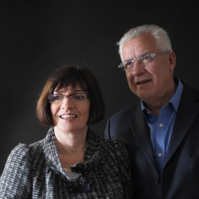 Jacques et Evelyne Deret, collectionneurs, fondateurs d'Art Collector, exposition Iris Levasseur, La Patio, du 18/06 au 28/06