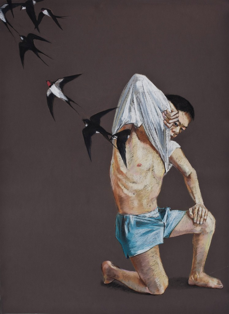 Wang Haiyang Untitled-22 75cm55cm pastel on paper 2010