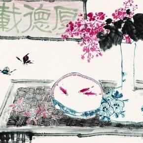 Visite d'atelier en Chine chez le jeune artiste qui mélange savamment tradition et modernité, Shao Bai Liu, 刘少白