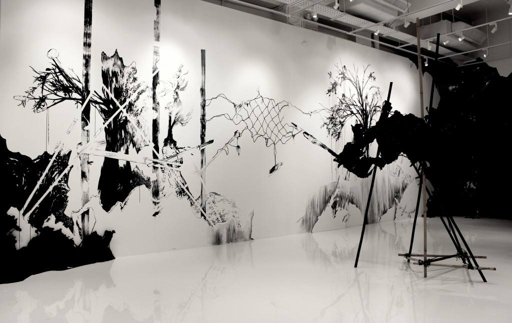 7 - A.BENCHAMMA : The invention of the cave -Gallery agnes b Honk Kong-2013