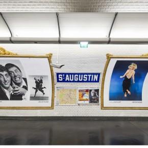 Philippe Halsman dans 16 station de métro parisiennes pendant trois mois