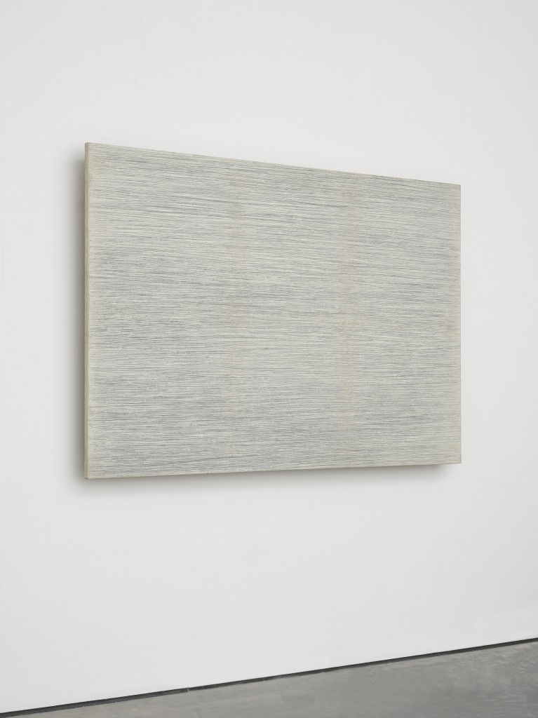Park Seo-Bo Ecriture (描法) No. 23-77 1977 Pencil and oil on canvas 51 3/16 x 76 3/8 in. (130 x 194 cm) © the artist. Photo © White Cube (George Darrell)