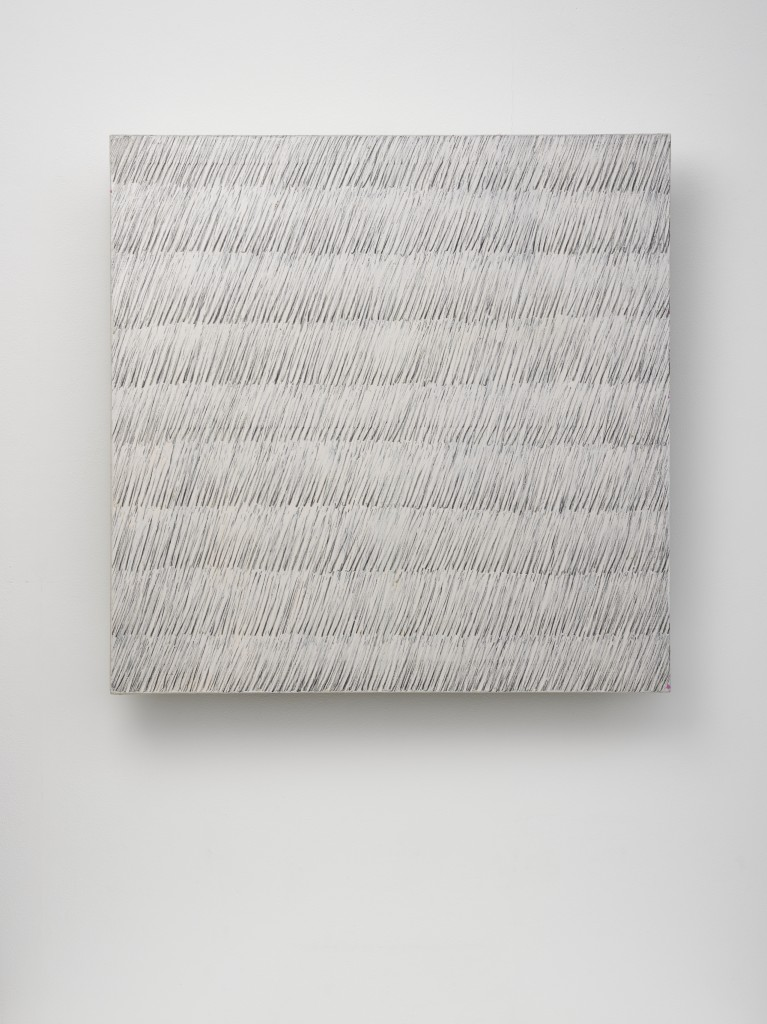 Park Seo-Bo Ecriture (描法) No. 42-73 1973 Pencil and oil on canvas 31 5/16 x 31 1/2 in. (79.5 x 80 cm) © the artist. Photo © White Cube (Ben Westoby)