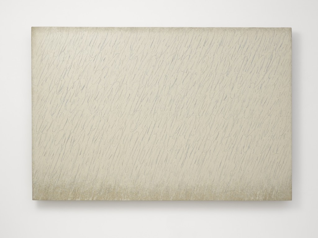 Park Seo-Bo Ecriture (描法) No. 6-67 1967 Pencil and oil on canvas 25 1/2 x 25 1/2 in. (64.8 x 64.8 cm) © the artist. Photo © White Cube (Ben Westoby)