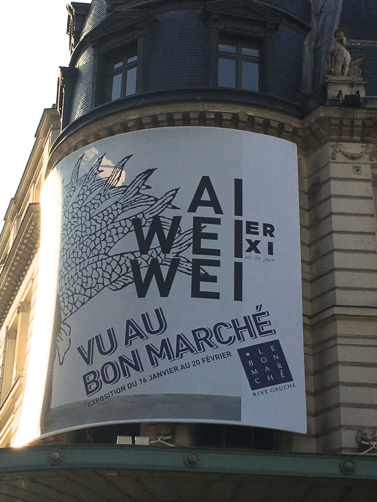 Ai Weiwei au Bon Marché, photo Christine Barbe
