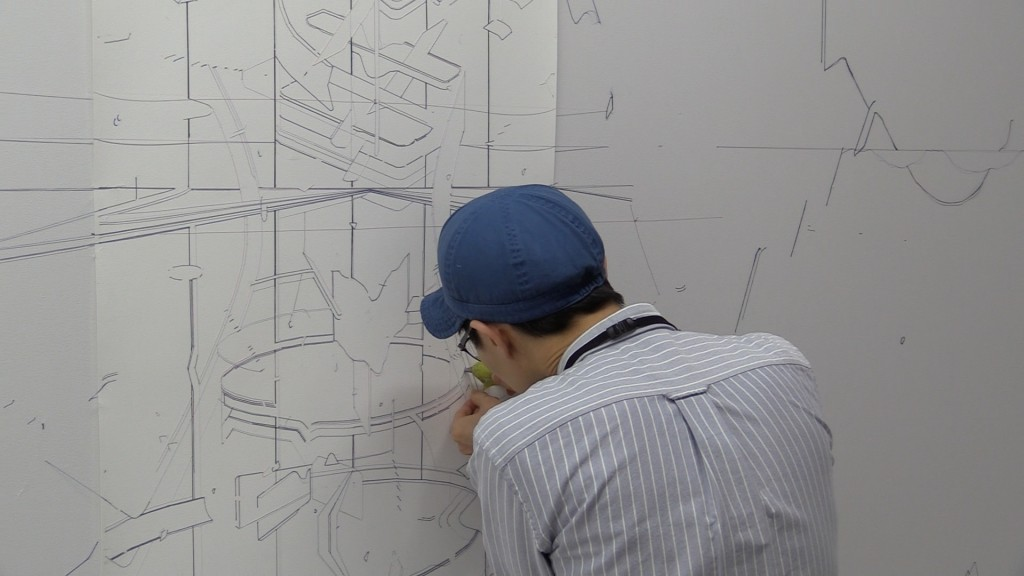 Keita Mori en action au Drawing Lab, courtesy ouvretesyeux